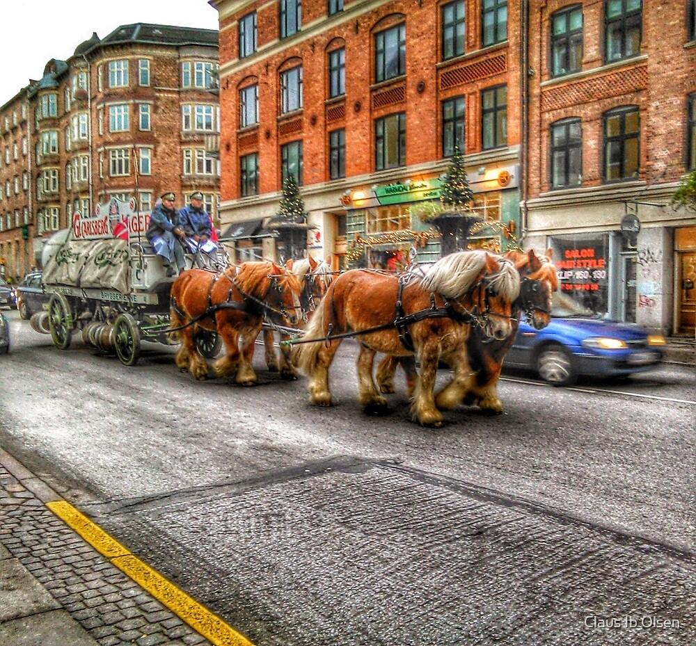 Dray horses by Claus Ib Olsen