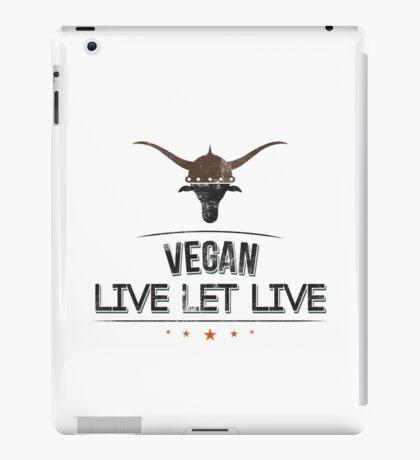 Vegan Live Let Live iPad Case/Skin