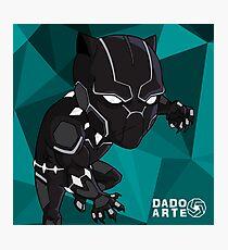 Black Panther Chibi Photographic Print