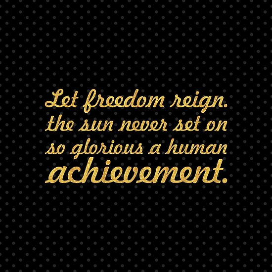 "Let freedom reign... ""Nelson Mandela"" Inspirational Quote (Square) by Powerofwordss"
