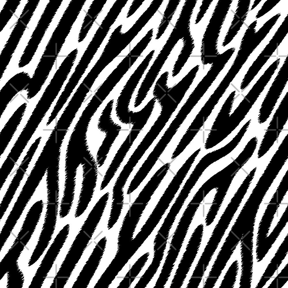 Black and white zebras pattern print by artonwear