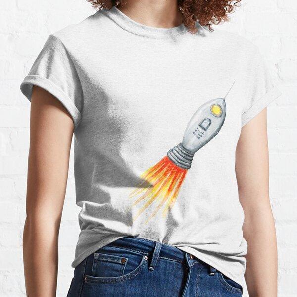 Rocket Ship Blast Off Classic T-Shirt