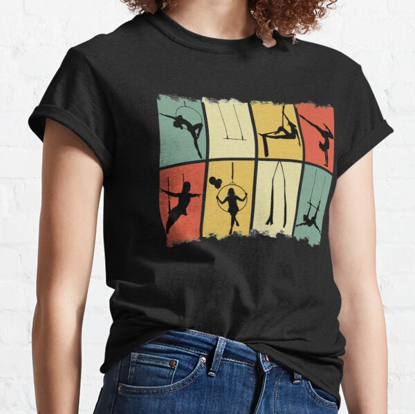 Vintage Circus Performers, Aerial Silk Girl, Aerial Silks Classic T-Shirt