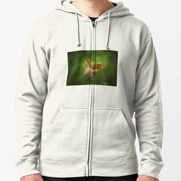 Aphrodite Fritillary Butterfly Zipped Hoodie