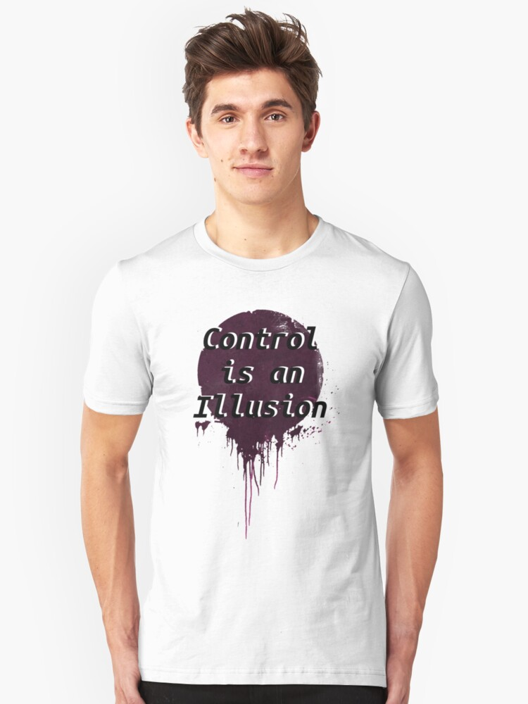 Mr. Robot - Control is an illusion Unisex T-Shirt Front