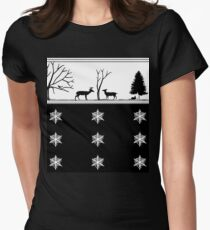 Winter Scenery Womens Fitted T-Shirt
