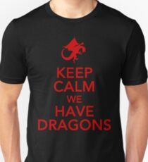 Keep Calm We Have Dragons Unisex T-Shirt