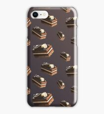 Dessert Doodle #01 Chocolate cake iPhone Case/Skin