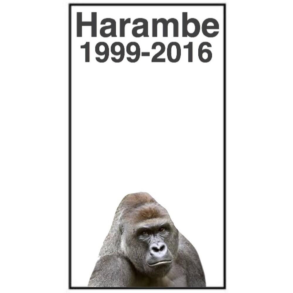 Rip Harambe 1999-2016 by mereisrad