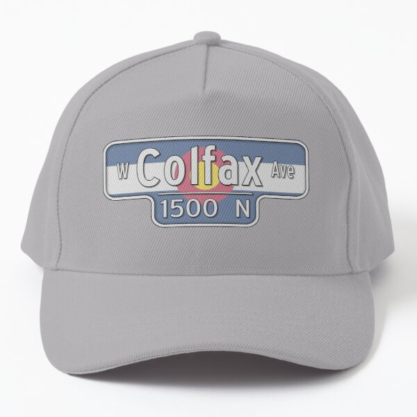 West Colfax Ave Street Sign - Colorado State Flag Baseball Cap