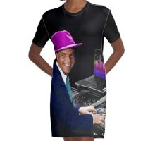"DJ Frank Sinatra ""The Voice of the World"" Graphic T-Shirt Dress"