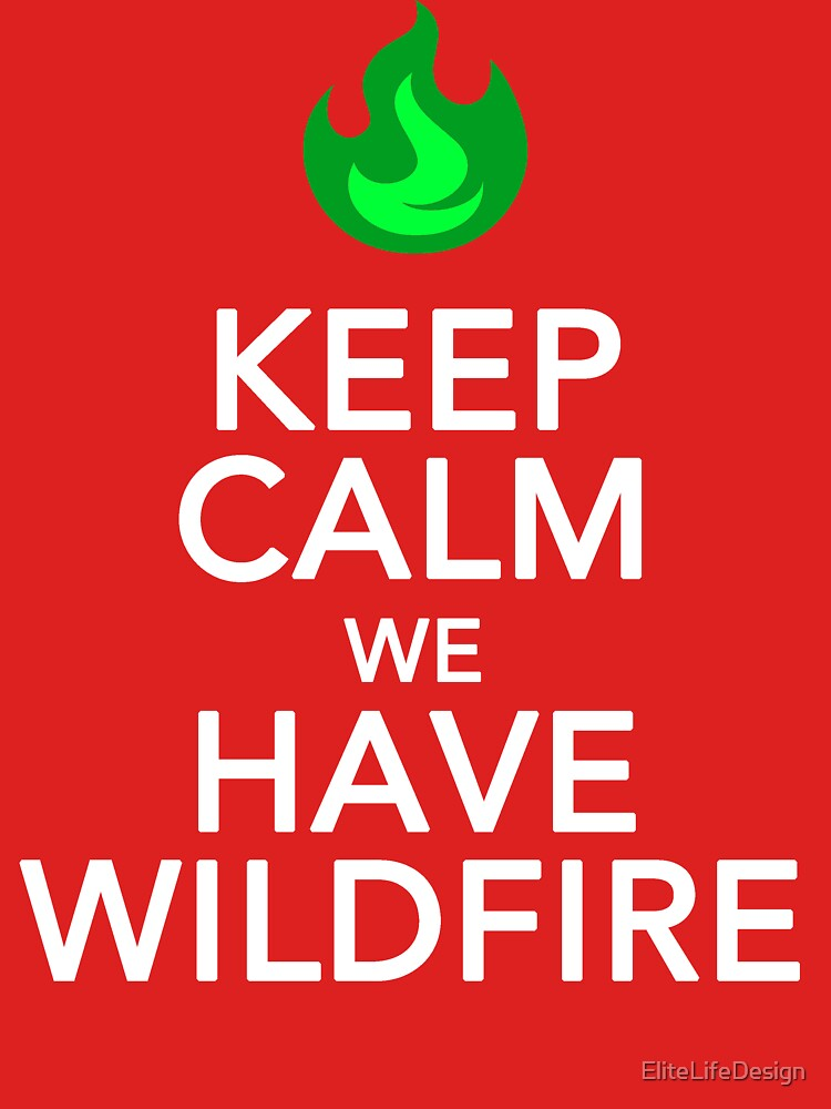 Keep Calm We Have Wild Fire by EliteLifeDesign