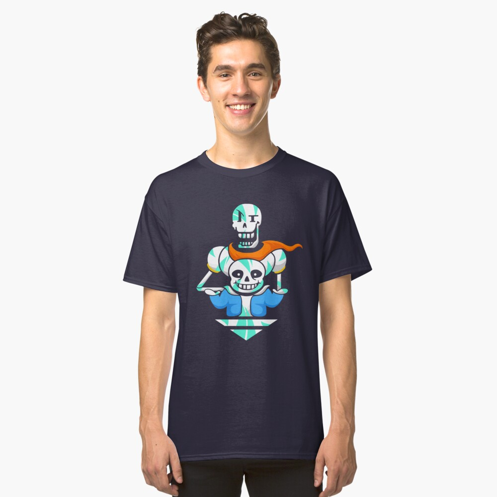 Sans and Papyrus Arrow Classic T-Shirt Front