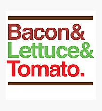 Bacon Lettuce & Tomato Photographic Print