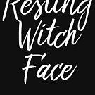 Ruhendes Hexengesicht von kjanedesigns
