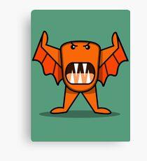 """Orbi"" (orange & bissig) Canvas Print"