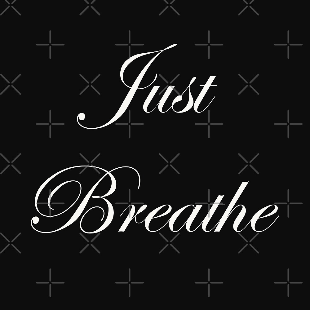 Just Breath - White by AmyJacksonArt