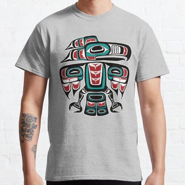 Haida Tlingit Native Raven Totem Classic T-Shirt