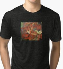 Foxes - Homage to Franz Marc (1913)     Tri-blend T-Shirt