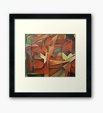 """Foxes"" -  Homage to Franz Marc (1913)     Framed Print"