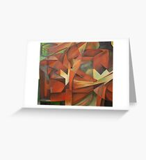 """""""Foxes"""" -  Homage to Franz Marc (1913)     Greeting Card"""
