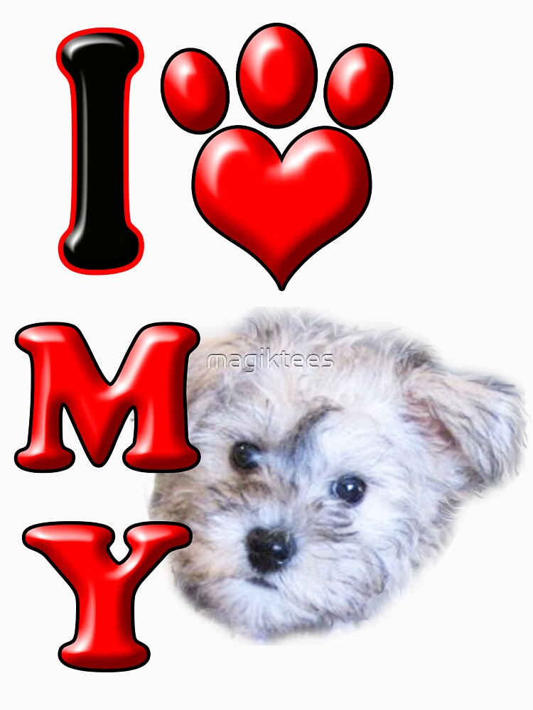I Love My Schnoodle by magiktees