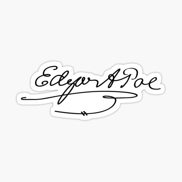 Edgar Allan Poe Signature Pegatina