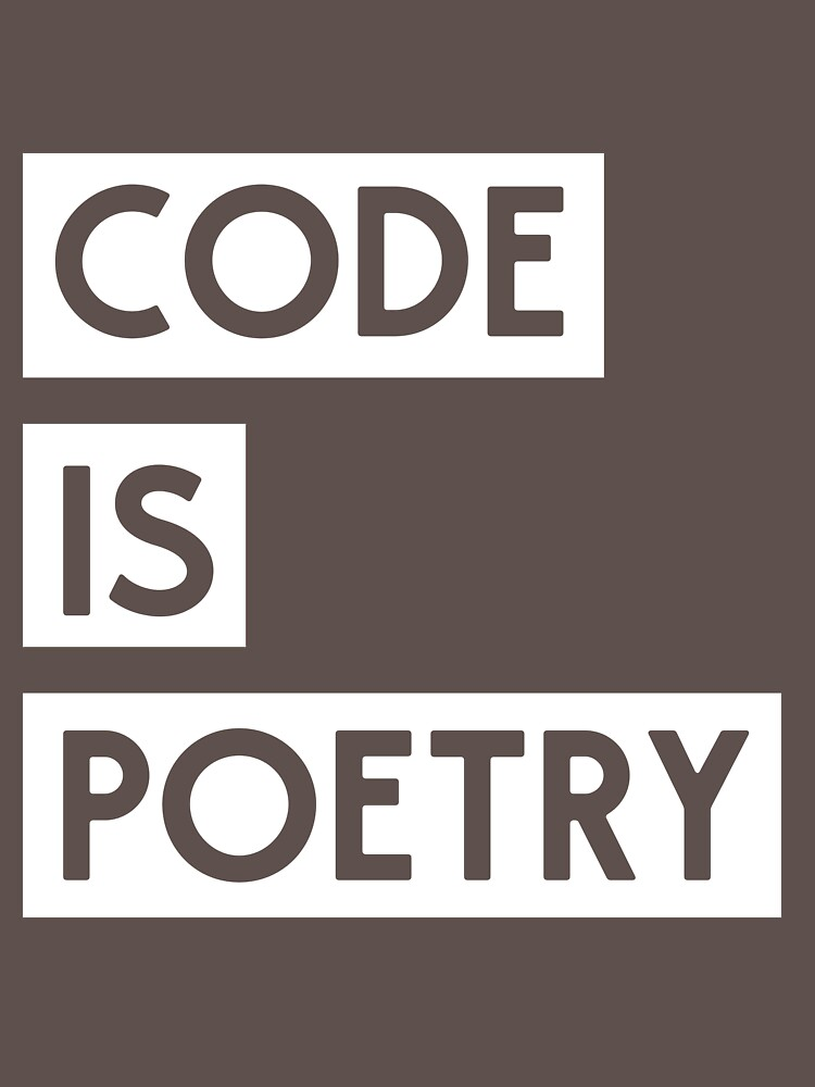 Code is Poetry by keepers