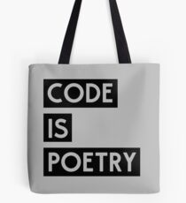 Code is Poetry Tote Bag