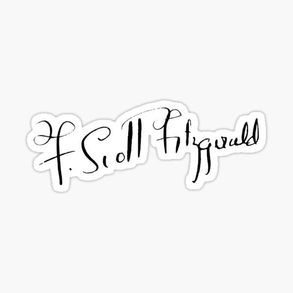 F. Scott Fitzgerald Signature Sticker