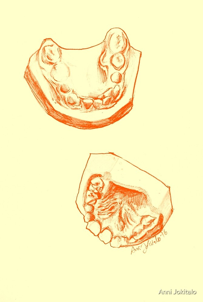 Teeth mold print (colored) by Anni Jokitalo