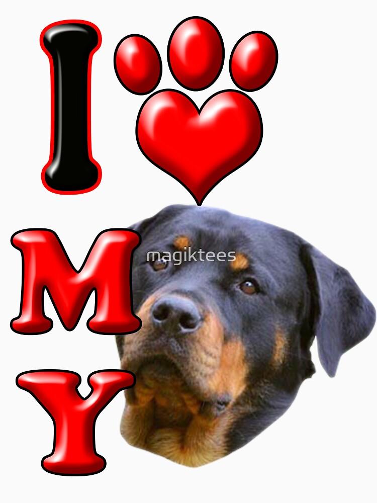 I Love My Rottweiler2 by magiktees