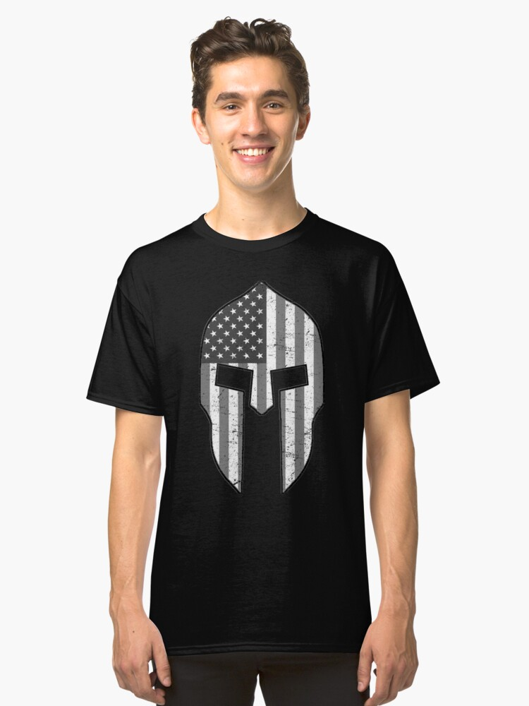 American Spartans BW Classic T-Shirt Front