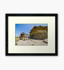 Abandoned movie location in the Tabernas desert. Framed Print