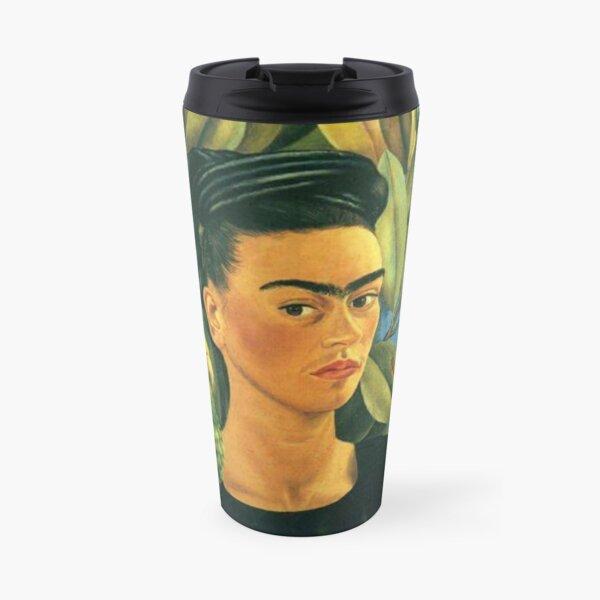 Frida Kahlo Self Portrait with Bonito Travel Mug
