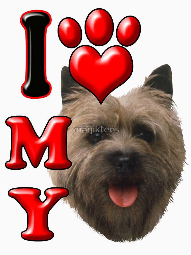 I Love My Cairn Terrier by magiktees