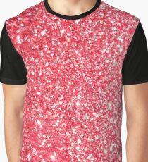 Red Glitter Shiny Glimmer Graphic T-Shirt