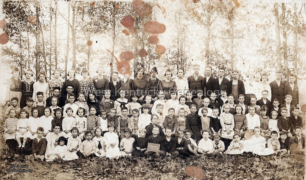 1920 Palestine School, Calloway County, Kentucky by Don A. Howell