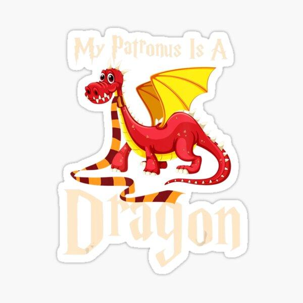 My Patronus Is A Dragon Cute Magical Dragon Wizard Sticker