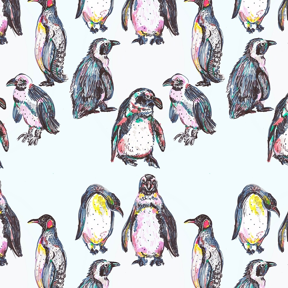 Penguin Party by minniemorrisart