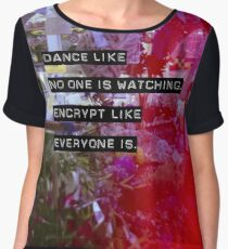 Encrypt like everyone is watching (colour BG) Women's Chiffon Top