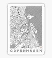 Copenhagen Map Line Sticker