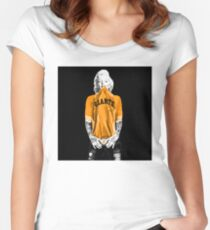 Marilyn Monroe For San Francisco Giants Women's Fitted Scoop T-Shirt