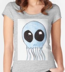 Cute Jellyfish Women's Fitted Scoop T-Shirt