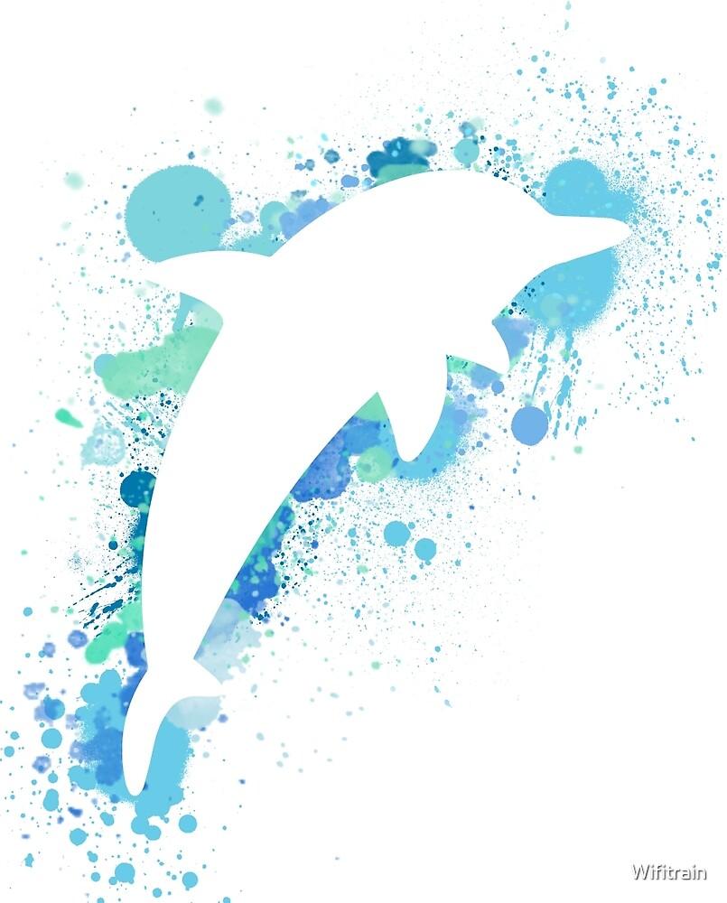 Dolphin Splatter by Wifitrain