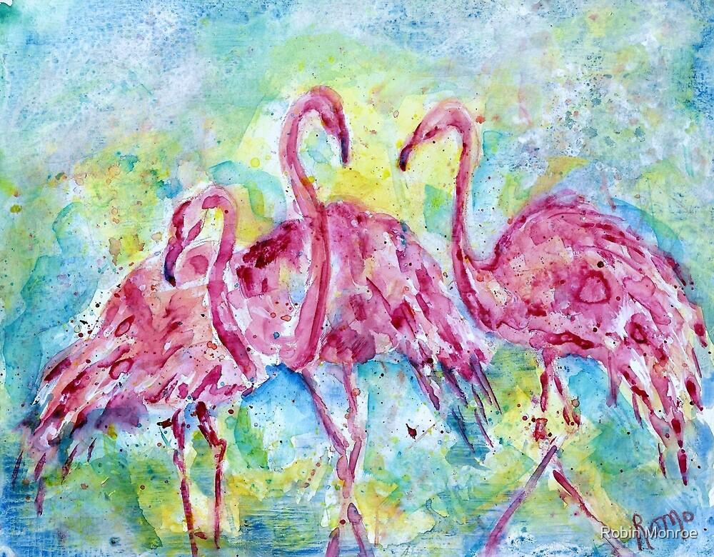 Three Flamingos by Robin Monroe