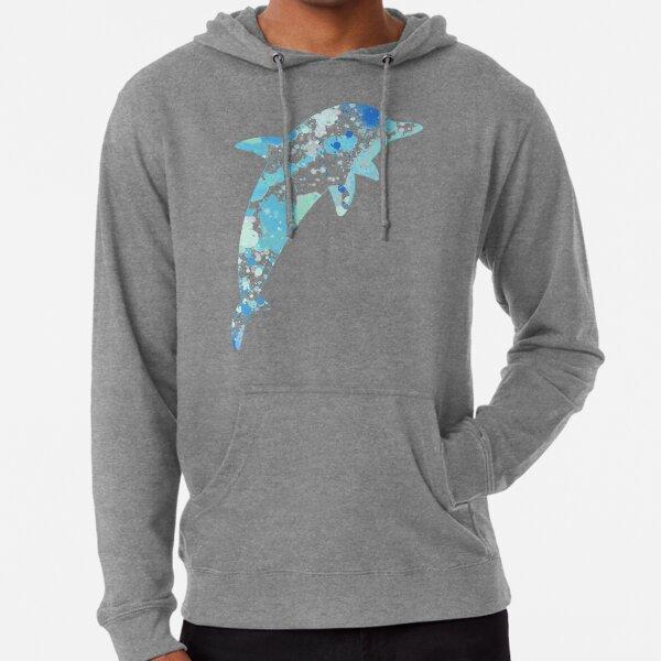 Dolphin Paint Splatter Lightweight Hoodie