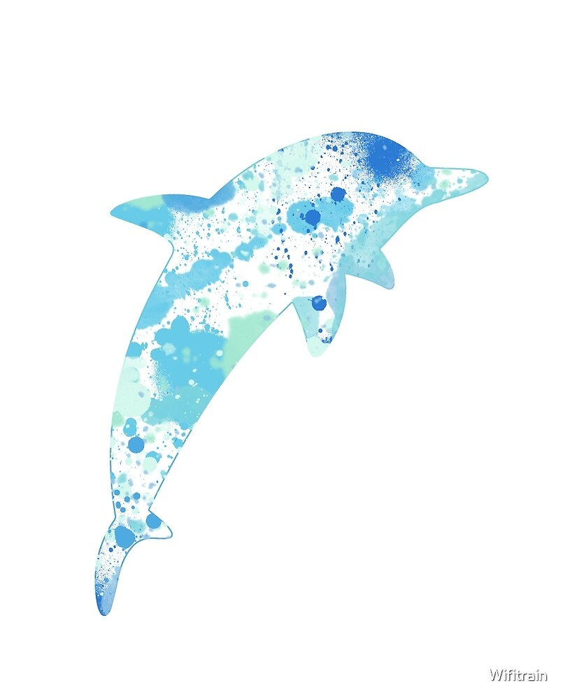 Dolphin Paint Splatter by Wifitrain