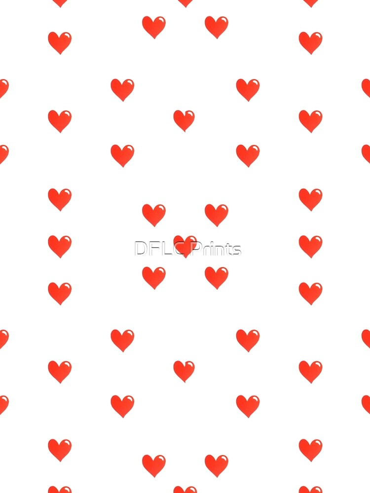 Simple Hearts Cute Pattern by DFLCreative