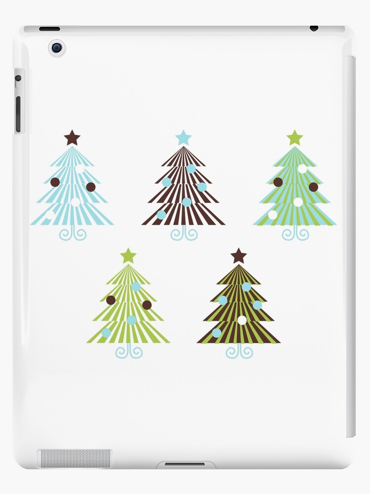 Christmas Trees set in geometrical clean style by Bee and Glow Illustrations Shop